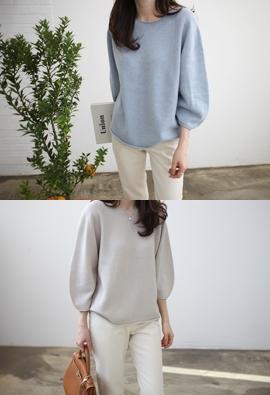 [Wholegarment] Volume Sleeve Knit (3color)