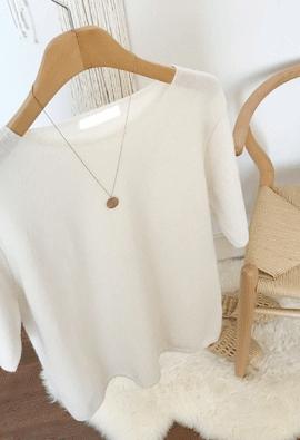 Simple half knit (3color)