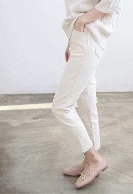 [Back band] Gram pants (beige)