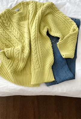 Arow down knit (3color)