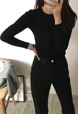 [Wholegarment] Crew neck knit (3color)