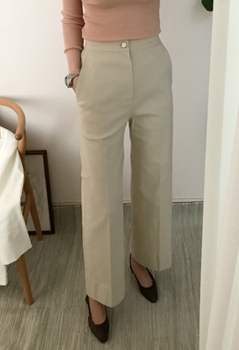 Broaden cotton pants (3color)