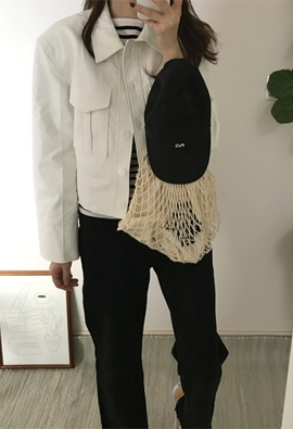 Leather pocket jacket (2color)