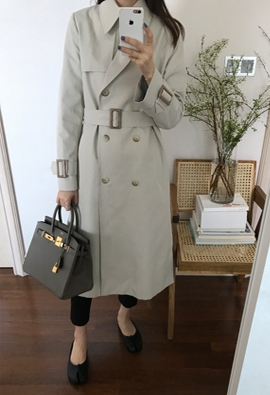Basic trench coat (2color)