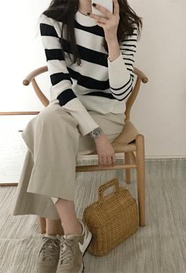 Double stripe knit