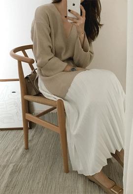 Sarah V knit (3color)