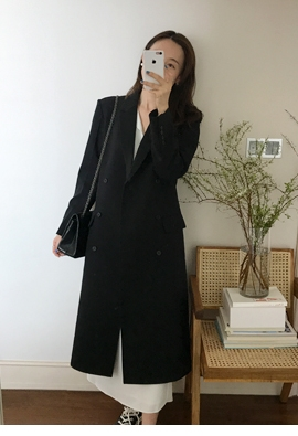 Black double coat
