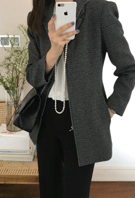 Classy zip up jacket (3color)