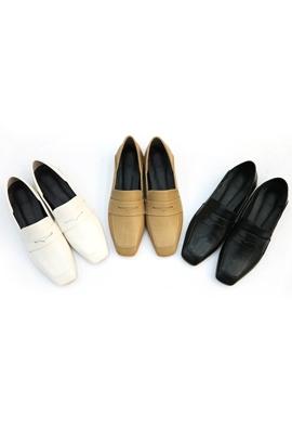 Squared loafer (3color)