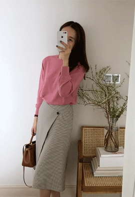 Hound wrap skirts (2color)