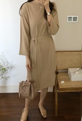 Boatneck knit dress (3color)