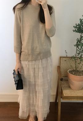 [Cashmere] Ness knit (4color)