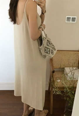 [Wholegarment] [Cache] Ably cami dress (3color)