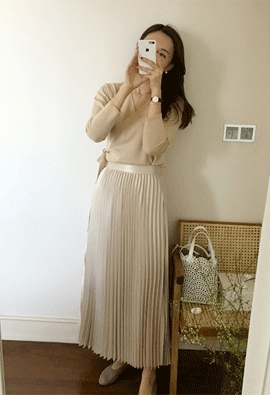 Lustrous skirts (3color)