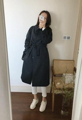 Lowen trench coat (navy)