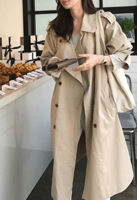Huge trench coat (3color)