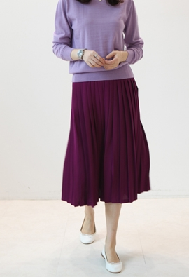 [Back band] Front pleats skirts (3color)