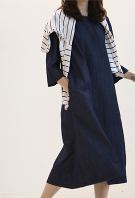 Munch denim dress