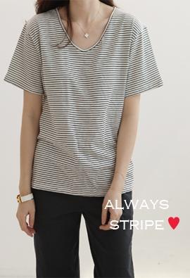 Always stripe tee (3color)
