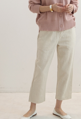 [Band Type] Shortly linen pants (3color)
