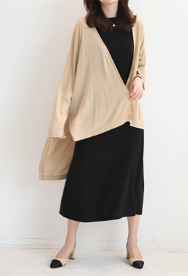 Unbalanced cardigan (3color)