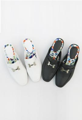 Middle heel slipper (2color)