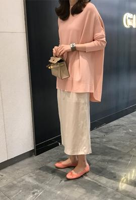 [Back band] Shiny skirt (3color)