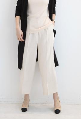 [Back band] Linen wide pants (3color)