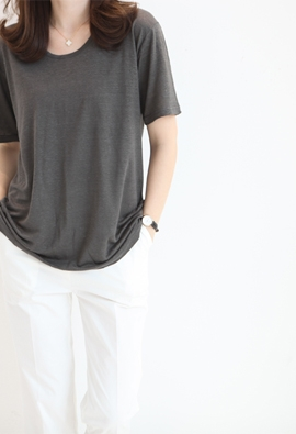 Norman linen tee (4color)