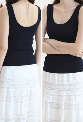 Make sleeveless top (3color)
