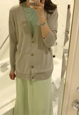 [Wholegarment] Verre cardigan (beige)