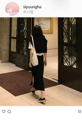 [Band Type] Evel knit skirts (black)