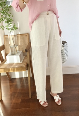 [Back band] Growth pants (ivory)