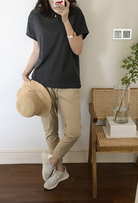 [Band Type] String casual pants (3color)