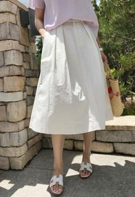 Buckle tuck skirt (2color)