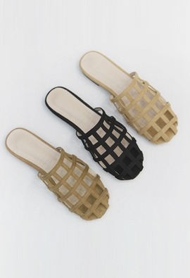 Grid slipper (3color)
