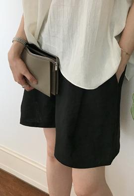 [Back band] Afford linen shorts (4color)