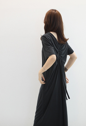 String shirring dress (2color)