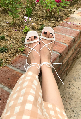 Cross strap sandals (2color)