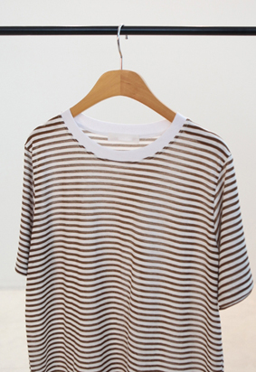 Clear stripe tee (2color)
