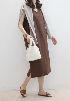 Linen simply dress (3color)