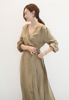 Gracie wrap dress (2color)
