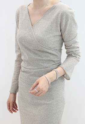 Shirring warp knit (2color)