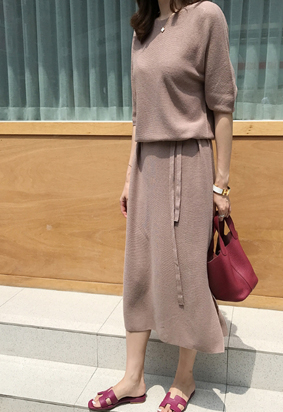 [Wholegarment] Maxi Knit Dress (3color)