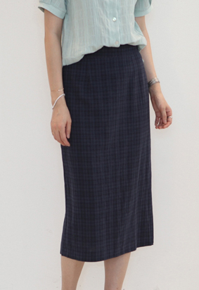 Check pattern skirt (2color)