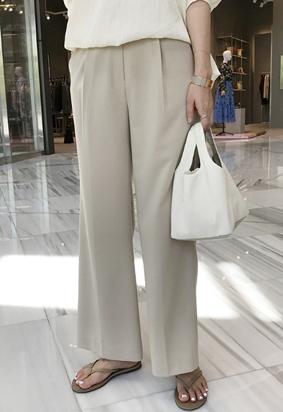 Broad tuck pants (3color)