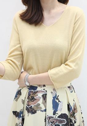 [Wholegarment] Use V knit (yellow)