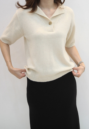 Middy collar knit
