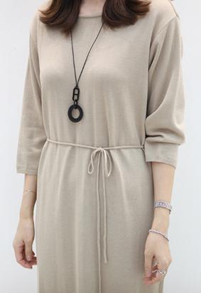 Strap knit dress (3color)