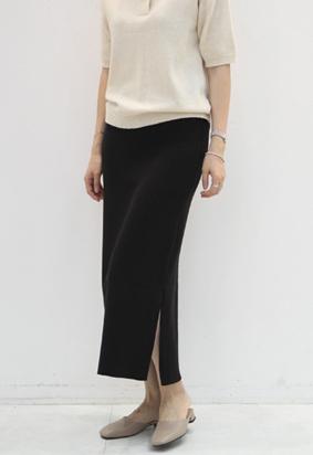 [band] Knit slit skirts (3color)